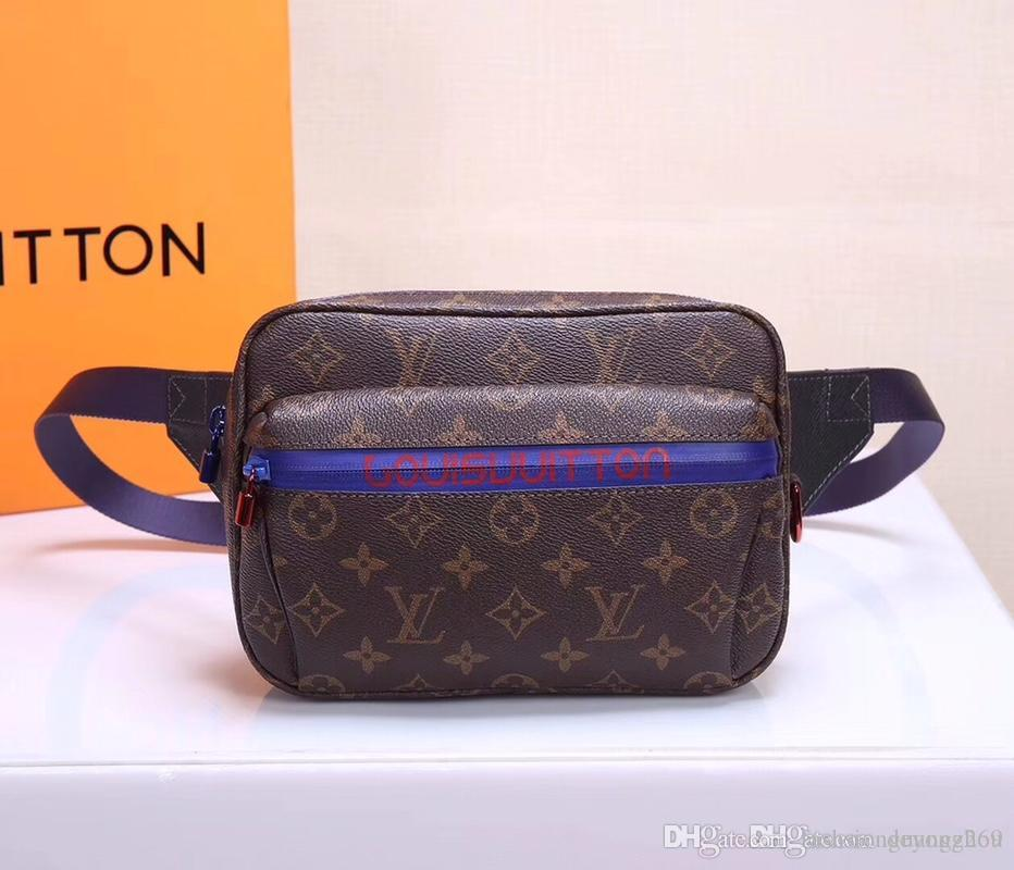 49450d8157d3 Top Quality Hot Famous Fashion Casual Men 12.5x20x3CM Genuine Leathers Bag  Luxury Graffiti Designer Waist Bags Waistpacks  M43828 22 Best Quality  Waist Bag ...