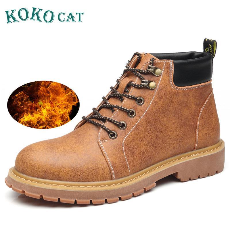 3ad4aea5db Brand Super Warm Men Winter Boots Leather Men Waterproof Rubber Snow ...