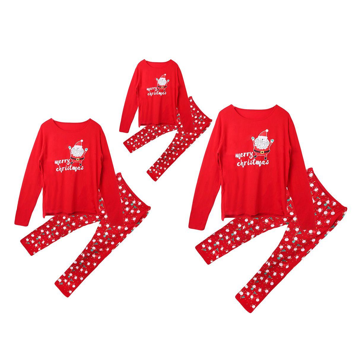 Emmababy Família Natal Pijamas Família Combinando Roupas Set Pijama Set Xmas Pijamas Roupa De Noite Natal Family Look