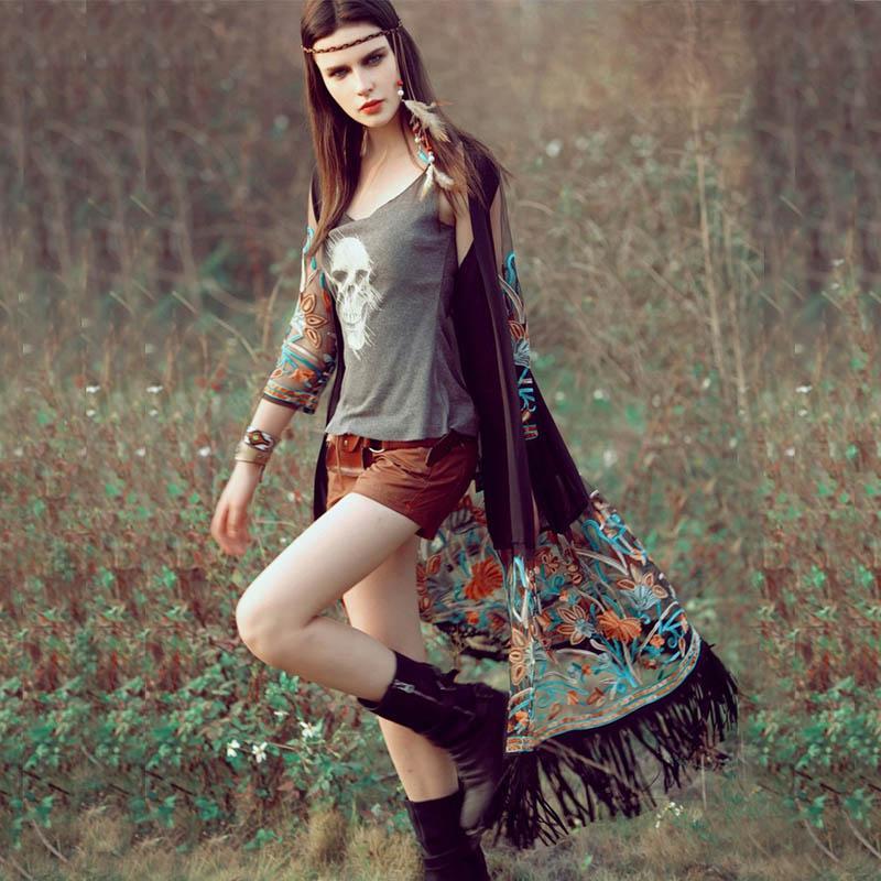 e30ec68ca299 Acquista Bohemian Style 2018 Summer Kimono Cardigan Casual Fashion Boho  Hippie Ricamo Nappa Camicie Da Donna Top Da Donna A  13.06 Dal Estartek2