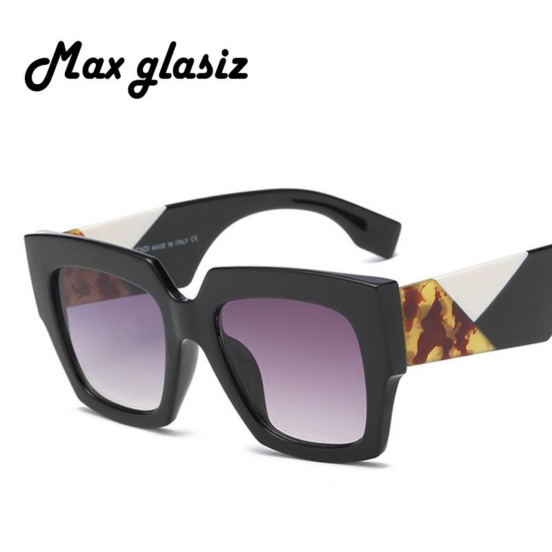 04aefa487d8 Max Glasiz Fashion Brand Designer Square Sunglasses Women Men ...
