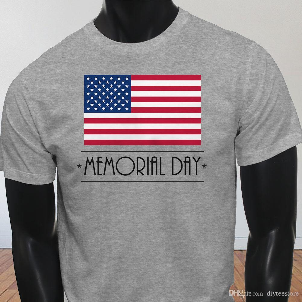 2ff4aadcf40 Memorial Day Patriot American Flag Pride Veteran Mens Gray T Shirt Tees Shirt  Men Male Great Custom Short Sleeve Valentine S 3XL Group Buy Tee Top T Shirt  ...