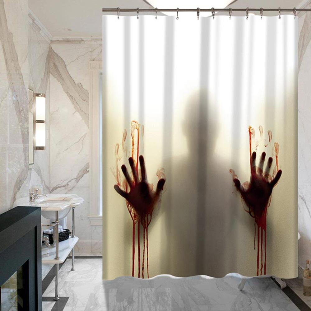 2018 Bloody Hand Horror Custom Shower Curtain Bathroom Decoration ...