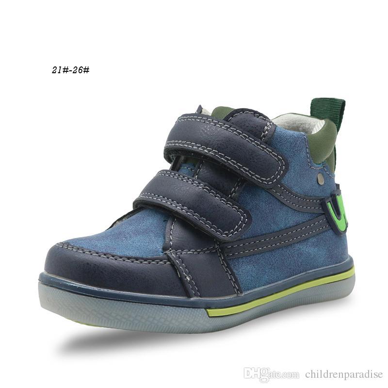 2ebbc792f513b Acheter Apakowa Hiver Automne Enfants Chaussures Enfants Pu En Cuir Garçons  Bottes De Cheville Sport Sneakers Pour Garçons Flat Chaussures Enfant Avec  ...