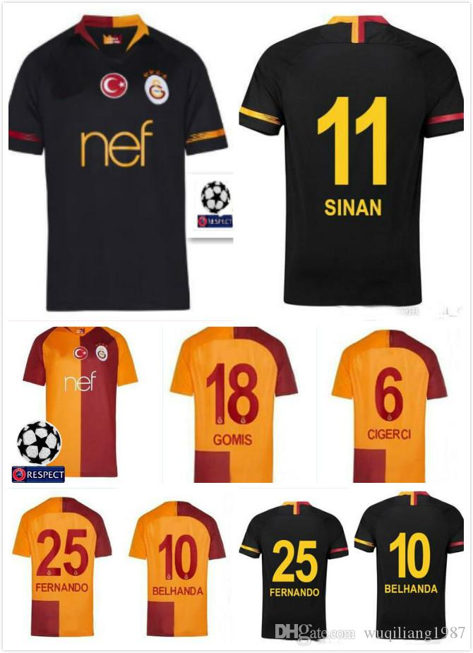 2019 TOP 2018 2019 Galatasaray Soccer Jerseys Home Away GOMIS Champions  League 2018 2019 CIGERCI BELHANDA FERNANDO FEGHOULI FOOTBALL SHIRTS From ... eae122bc6