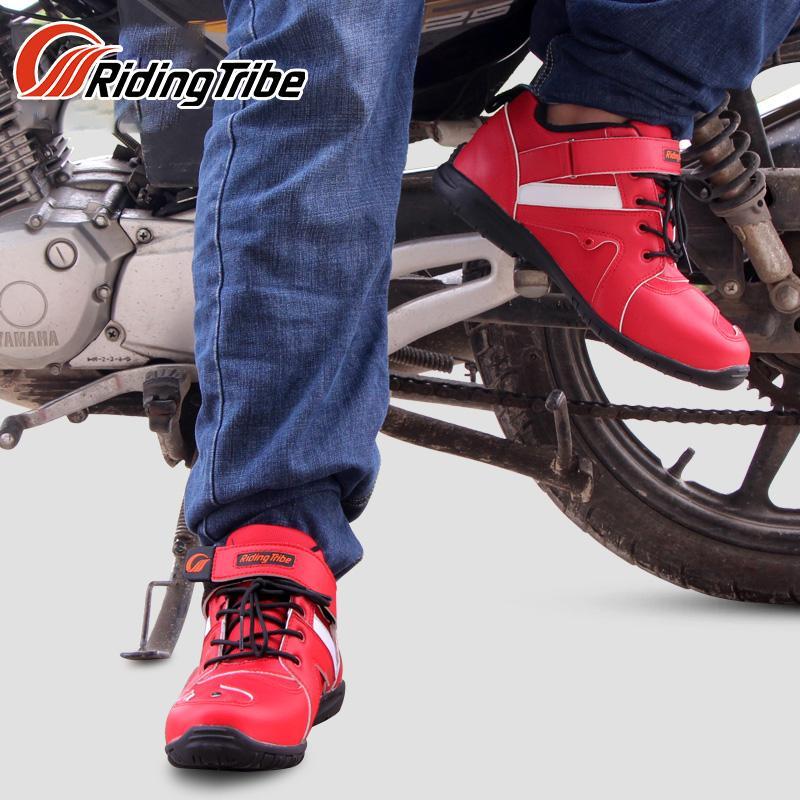 Stivali da Moto Anti-Skid Resistente allUsura Moto Racing Stivali da Cross Motocross Fuoristrada Impermeabile Anti-collisione Equitazione Proctector