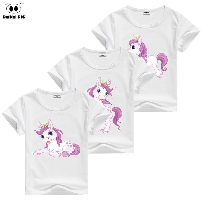 fb7550b67d174 Acheter Dmdm Pig Cheval T Shirt Bébé Enfants À Manches Courtes T Shirts  Pour Les Filles Tshirt Enfants Toddler Vêtements Tops T Shirt Taille 6 8 9  10 Ans De ...