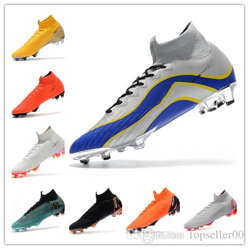 b5c2f74e1dd 2018 New Kids Soccer Shoes Mercurial CR7 Superfly VI FG Mens ...
