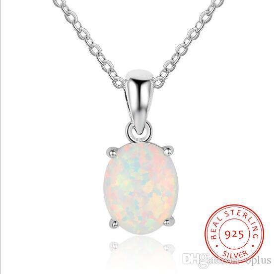 Wholesale genuine 925 sterling silver luxury oval shape opal pendant wholesale genuine 925 sterling silver luxury oval shape opal pendant necklace women chain necklaces birthday gifts for wife firends friendship necklaces aloadofball Gallery
