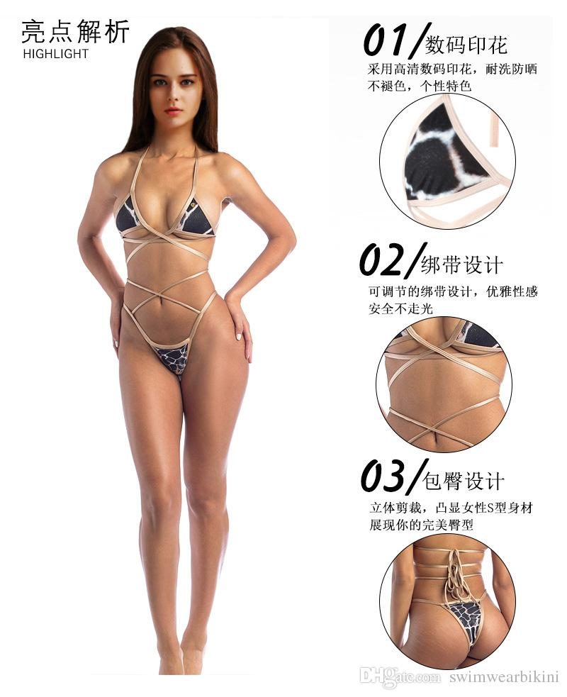 2018 one set European and American sexy triangular-covered lace boobs with a stylish one-piece swimsuit with by DHL