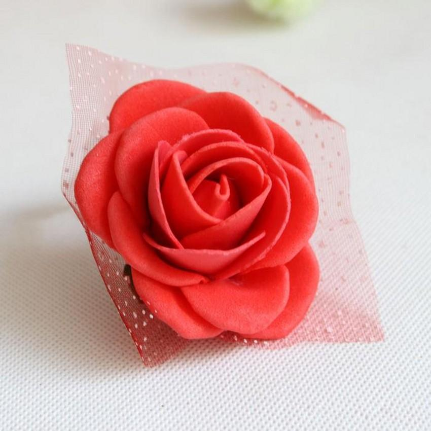 Real image Cheap pink bride bridesmaid wrist flowers, cheap wedding supplies ribbon Flower for wedding accessories fast shipping