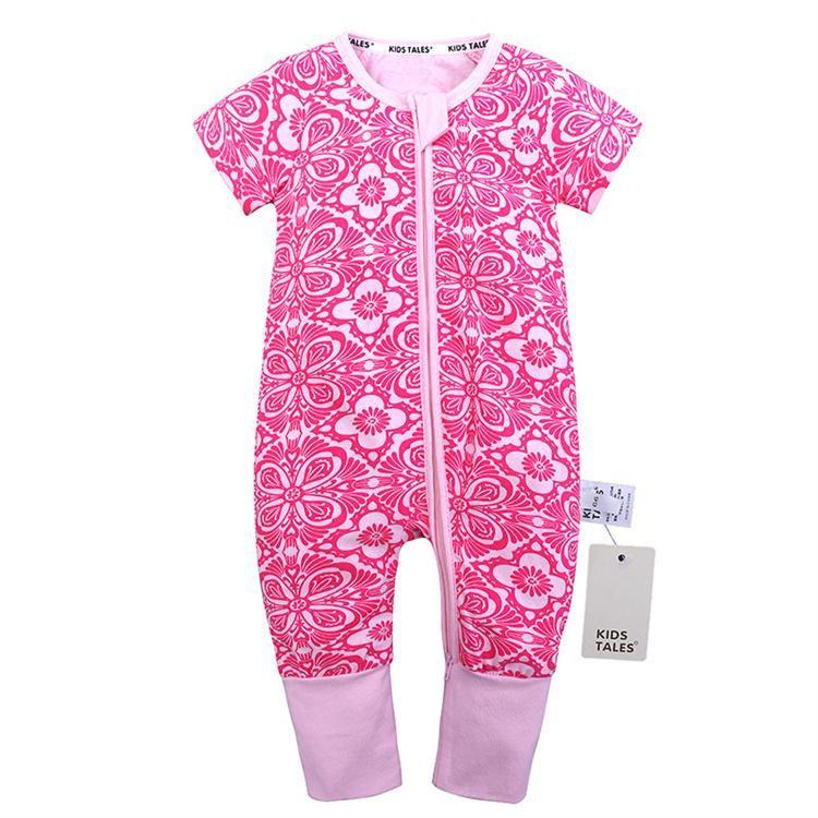 Ins горячие продать мультфильм детская одежда 0-2-летний ребенок напечатаны комбинезоны лето шею с коротким рукавом хлопок изюм ромпер H042
