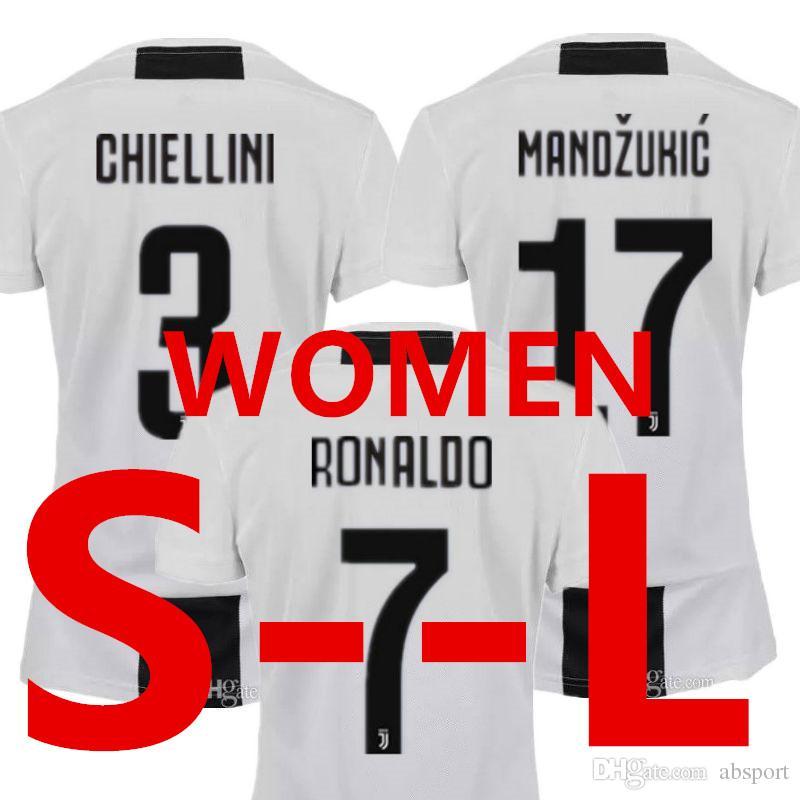 7442371e4 Female 18 19 Ronaldo Juventus Soccer Jersey for Women Juv Voetbal ...