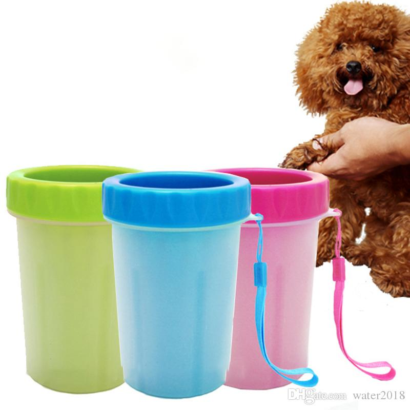 2018 Soft Silicone Brush Pet Foot Washer Cup Puppy Dog Foot Washer