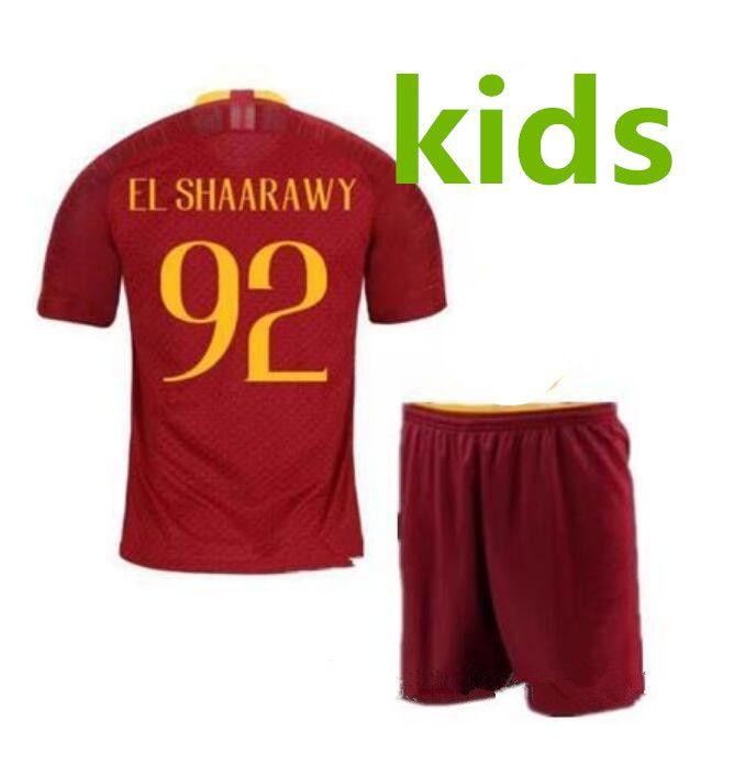 Kids 18-19 Kids Rome Home Third Soccer Jerseys Totti Dzeko Nainggolan  Futbol Camisa As Football Camisetas Shirt Kit Maillot Roma as Roma Rome Home  Kids ... 7eaca5ea8
