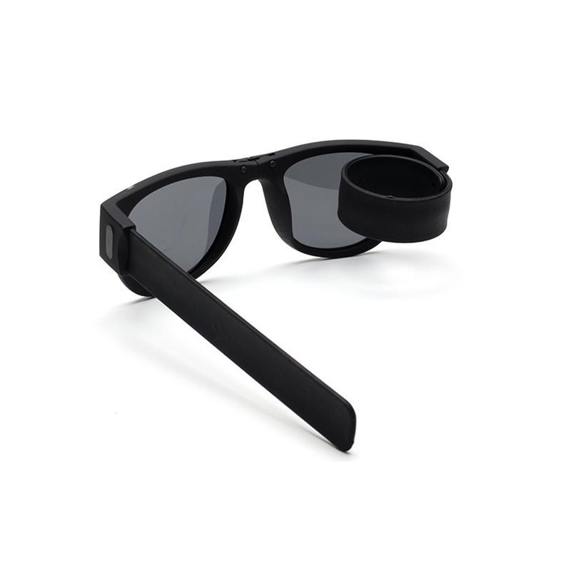 87a9408888 2018 Mini Folding Polarized Sunglasses Women Men Cool Trendy Outdoor Sport  Slap Shades Sunglasses UV400 Black Bracelet Oculos Discount Sunglasses  Sports ...