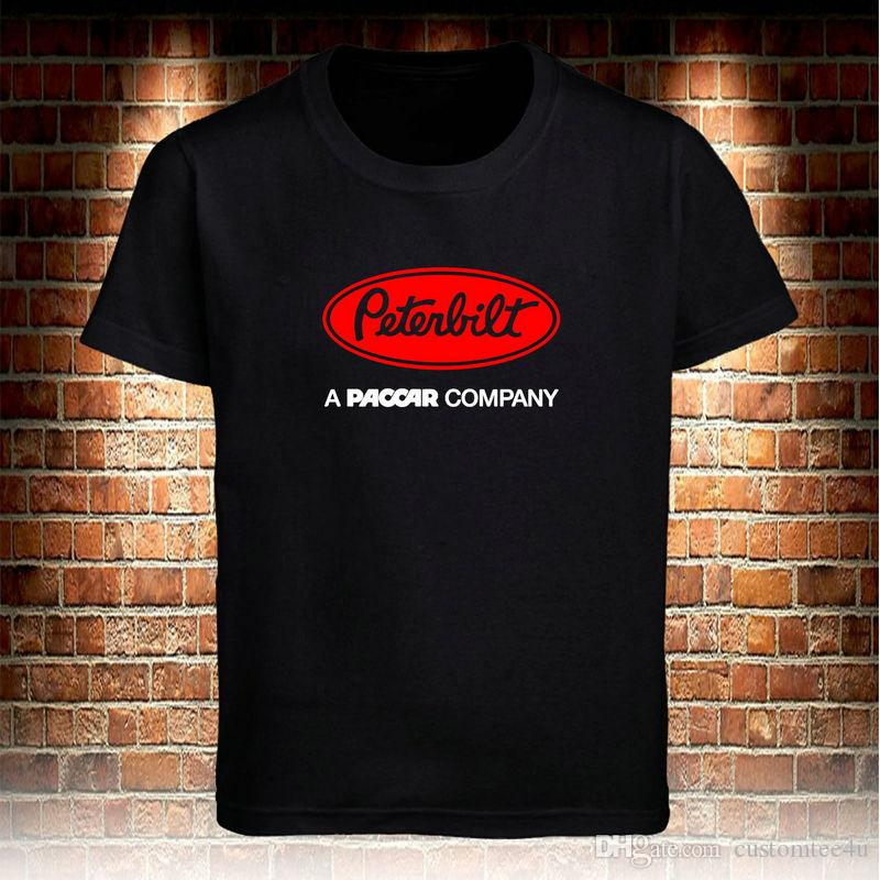 bbcbe6b19 Peterbilt Trucks Logo Trucker A Paccar Support Dropship T Shirt Men'S Tee S  3Xl T Shirt Men Short Sleeve Cotton Custom Plus Size Harajuku Ts Coolest  Shirt ...
