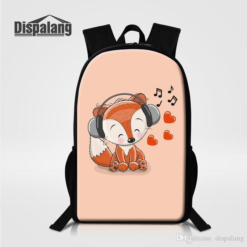 e0d76618de03 3D Cartoon Bear Print School Bags For Girls Personality Design ...