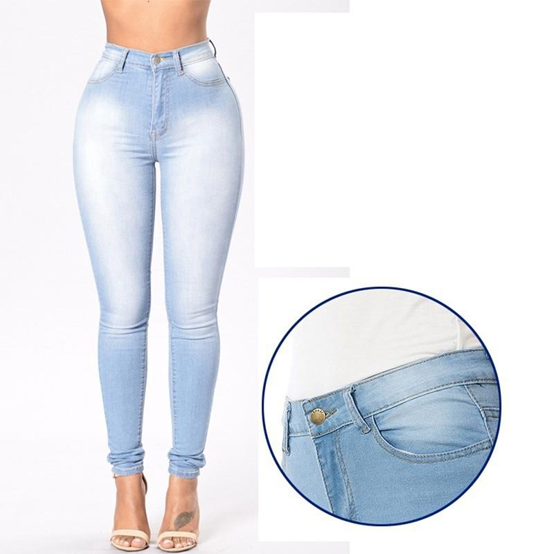 94fc700ddf1e ... Waist Jeans Washed Casual Denim Pencil Pants Women Jeans. women -039-s-grinding-white-elastic-skinny.jpg