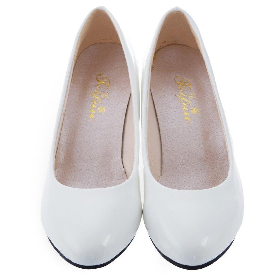 8edbeca1957 2018 Women White Shallow Mouth Pumps Wedding Shoes Elegant Ladies Fashion Low  Heel Shoes OL Women Spring Summer Classic Pumps Comfortable Shoes Slip On  ...