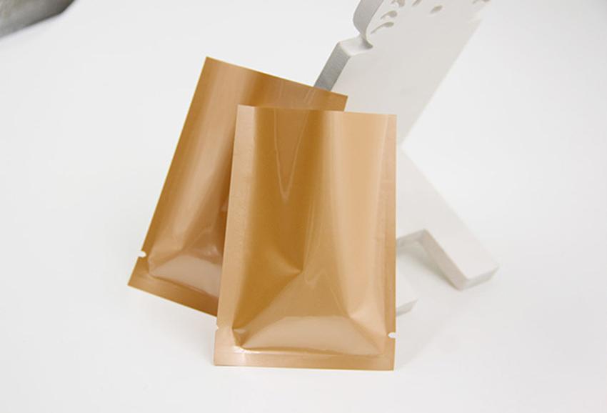 Bolsa de papel de aluminio con sellado térmico a color Bolsa de aluminio Mylar Bolsa a prueba de olores abierta Bolsas de embalaje superior Café Té Muestra cosmética GGA107