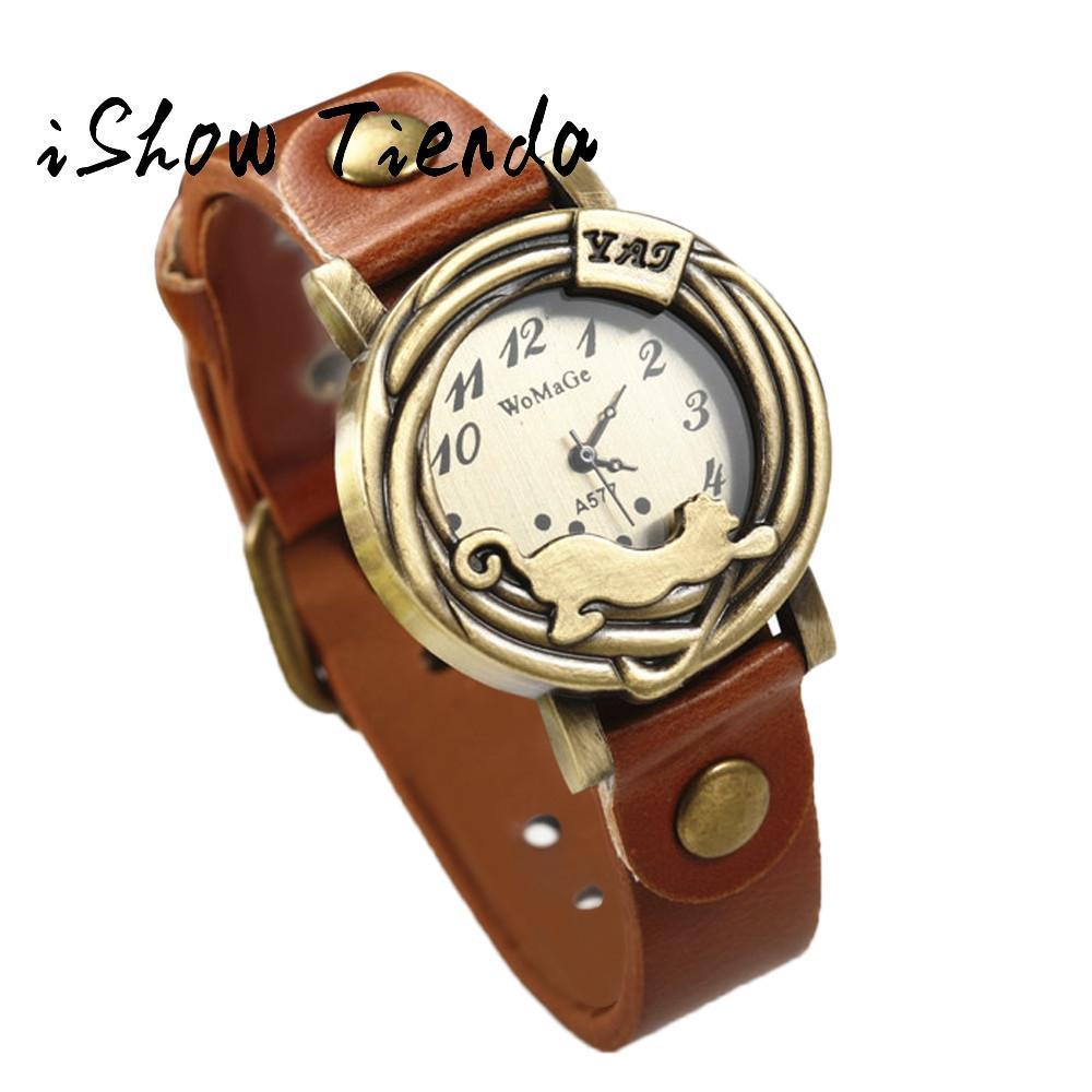 Womage Schöne Einfachen Geschenk Mode Uhr Für Frauen Mujer 2018 Ledergürtel Damen Quarzuhr Reloj WED92HI