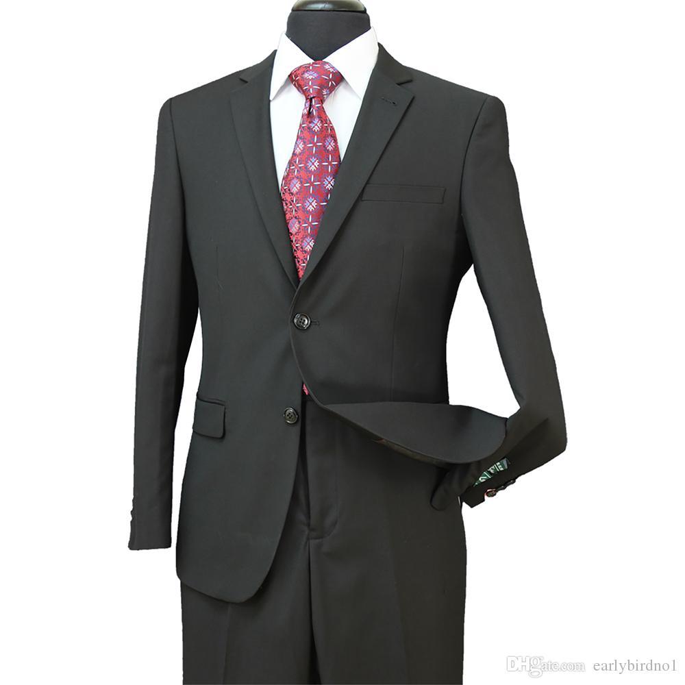 Yeni Ucuz 2018 Damat Smokin Groomsmen Yan Vent Düğün Için En Iyi Adam Suit erkek Resmi Takım Elbise Damat Damat Giyim Ceket + Pantolon ST004