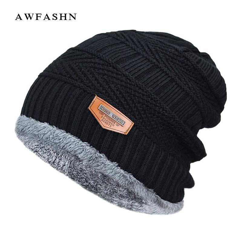 2019 2017 Men Beanies Knit Hat Winter Cap For Man Knitted Cap Boys Thicken  Hedging Balaclava Skullies Fashion Warm Knit Beanie From Godefery 3ec5572e885