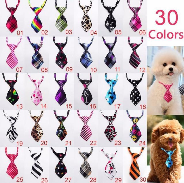 397868b4c8c9 Wholesale 3pcs Fashion Polyester Silk Pet Supplies Clothing Clothes Dog  Necktie Adjustable Handsome Bow Tie Necktie Sample