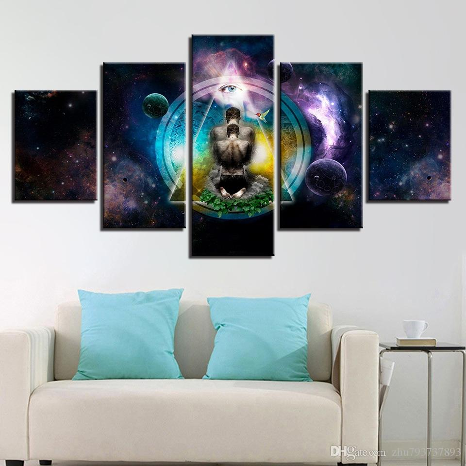 2018 Pictures Wall Art Canvas Prints Living Room Framework Om Yoga ...