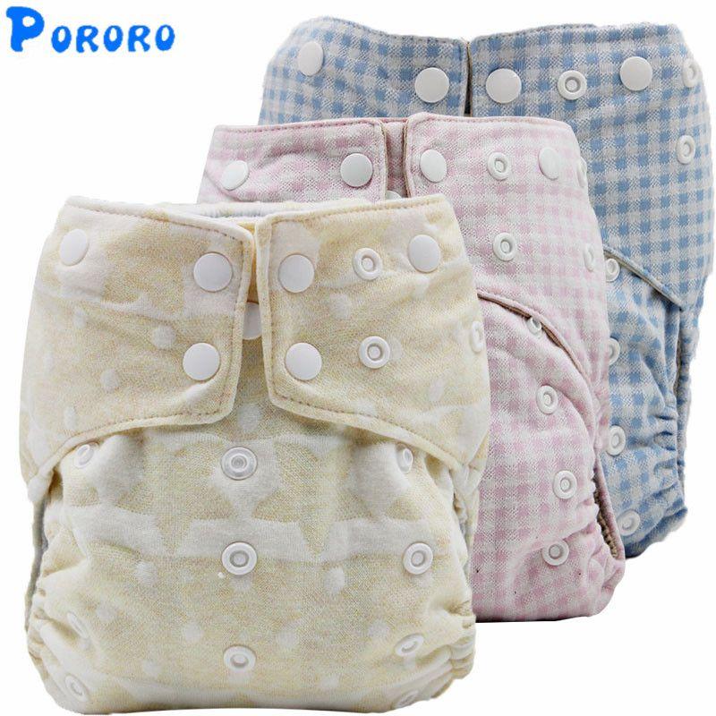 2019 Reusable Cotton Cloth Diaper Baby Boys Girls Nappy Cover