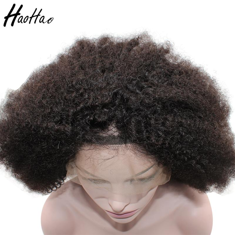 lace frontal Wig full lace wig brazilian Afro Curly 4c virgin human hair wigs for African black women