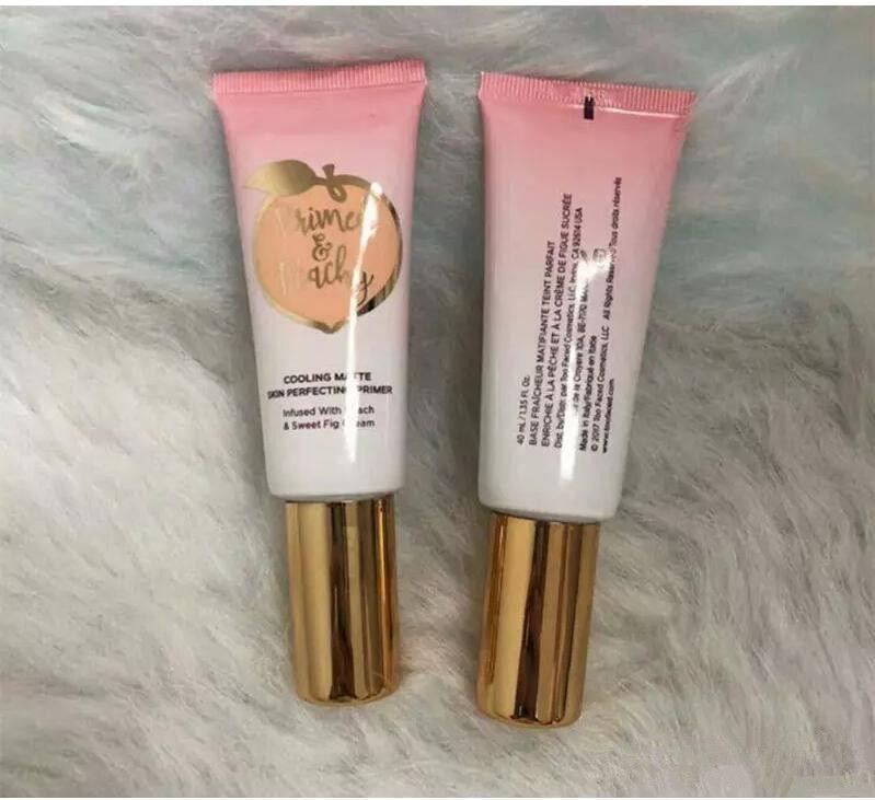 DHL-freies grundiert Peachy Kosmetik 40ML Kühlmatthaut Perfecting Primer Angereichert mit PeachSweet Abb Creme Faced Foundation Primer