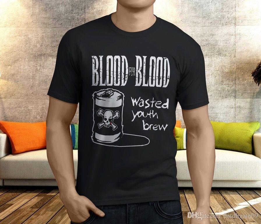 New Cool BLOOD FOR BLOOD Hardcore Rock Band Men'S Black T Shirt S 3XL Shirt  And Tshirt Create Your Own T Shirt Design From Amesion2509, $12.08|  DHgate.Com