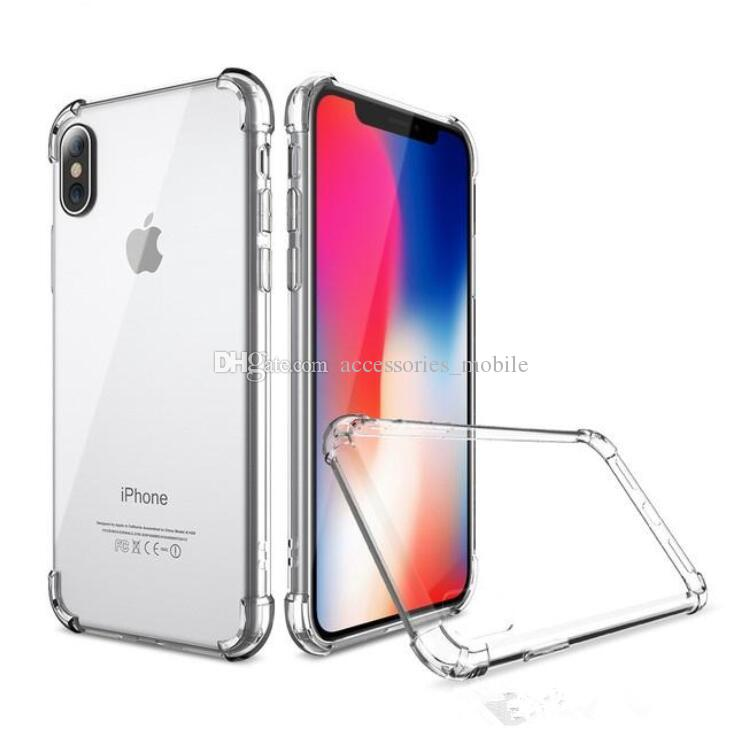 New type soft TPU Silicone Clear Cases For IPhone X 8 7Plus 6S Anti Shock For Galaxy Note 8 S9 S8 S7 EdgeMoto LG
