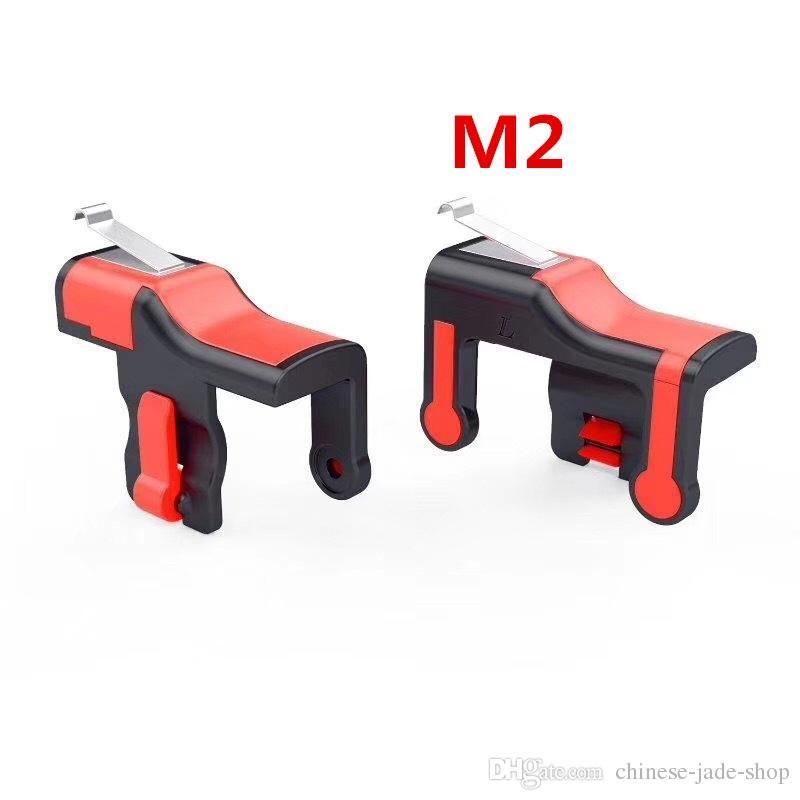 M2 Oyun Tetik Yangın Düğmesi Amaç Anahtar Akıllı telefon PUBG Oyunu Için Mobil Oyunları L1R1 Shooter Denetleyici /