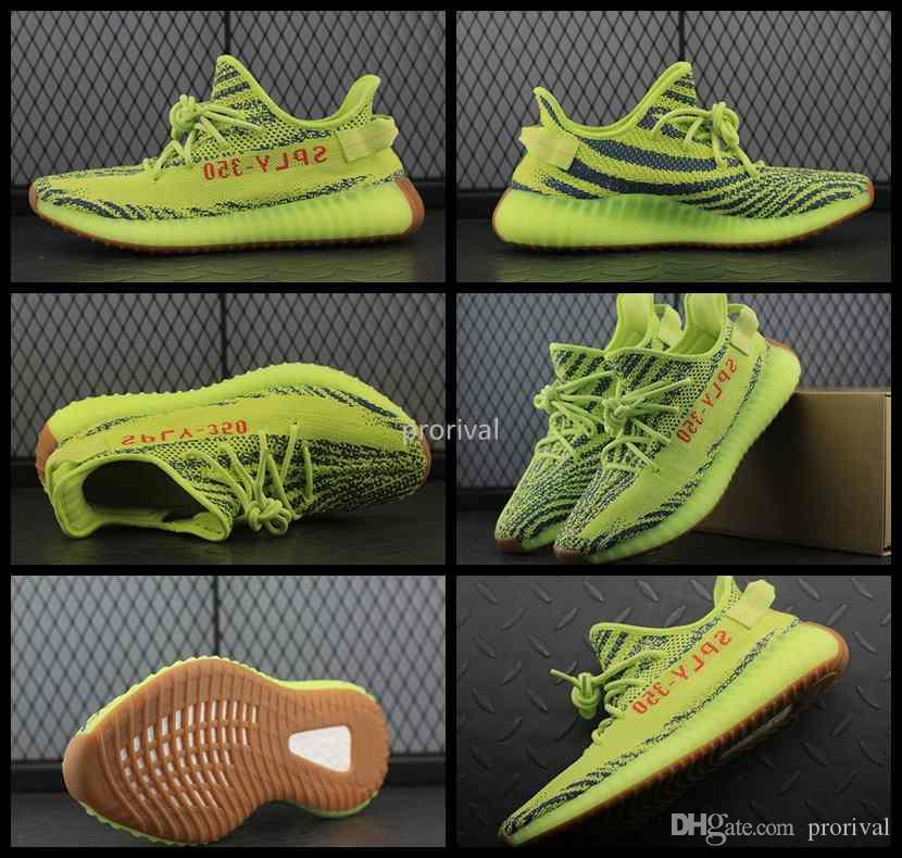 explore online 2018 New 350 V2 Boost Semi Frozen Yebra Yellow B37572 Sply 350V2 Boosts Running Shoes SPLY-350 Kanye West Sports Sneakers Size 36-46 clearance 2014 outlet ebay 3ITS7nq
