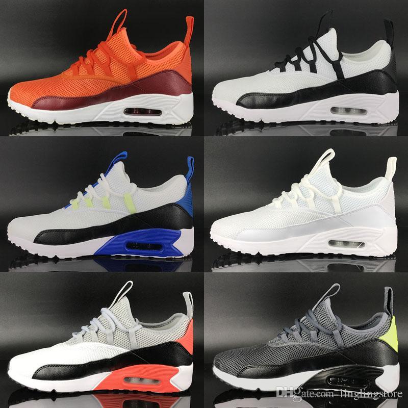 buy online 9a0d7 baf09 Compre Nike Air Max 90 EZ 2018 Hot Sale Zapatillas 90 Ez Zapatos Casuales  De Calidad Superior 90 S Negro Blanco Rojo Gris Azul Verde Hombres Zapatos  De ...
