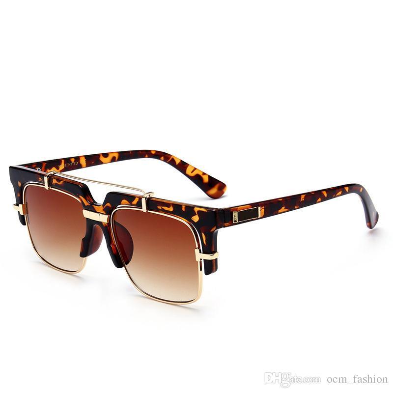 f5eb8071d24 2018 New Square Polarized Sunglasses Mens Women Retro Driving Sun Glasses  Fashion Flat Style Shades Goggles Luxury Semi Rimless Eyewear John Lennon  ...