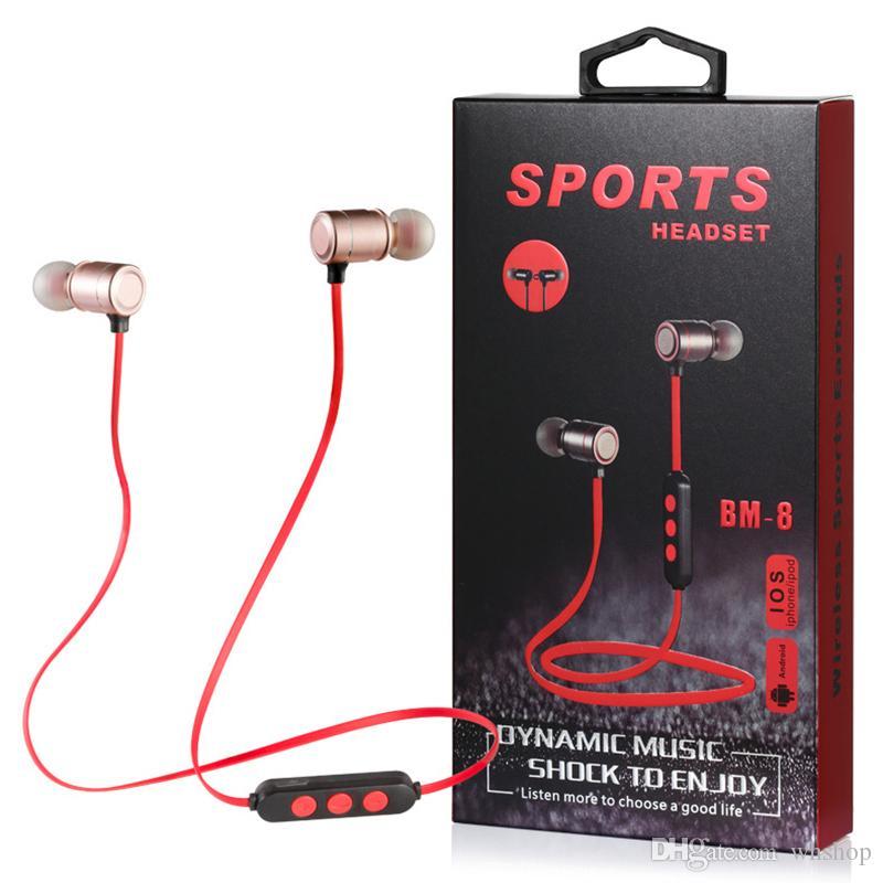 Cuffie Con Microfono Sport Auricolare Bluetooth Magnetico In Metallo 4.2  Auricolari Cuffie Stereo Senza Fili Con Gancio Aggiornato i Disponibili  Offerta ... c8ea5eb714cf