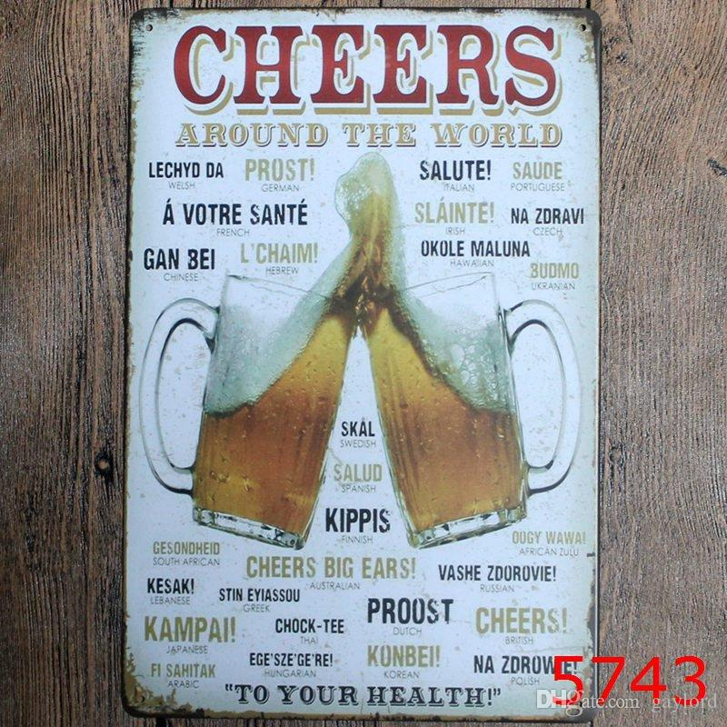 different themes beer garage warning Motor Vintage Craft Tin Sign Retro Metal Painting Poster Bar Pub Wall Art Sticker