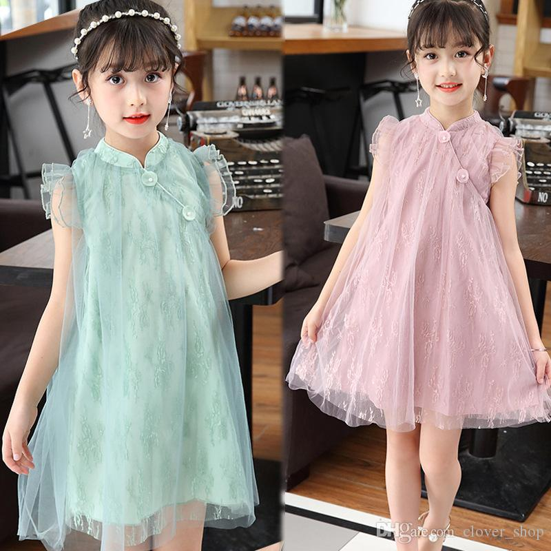 2019 Princess Dress For Kids Korean Girls Clothes Summer Fashion Sleeveless  Lace Dress Classical Mesh Dresses Party Birthday Gift From Clover shop a283da05abd6