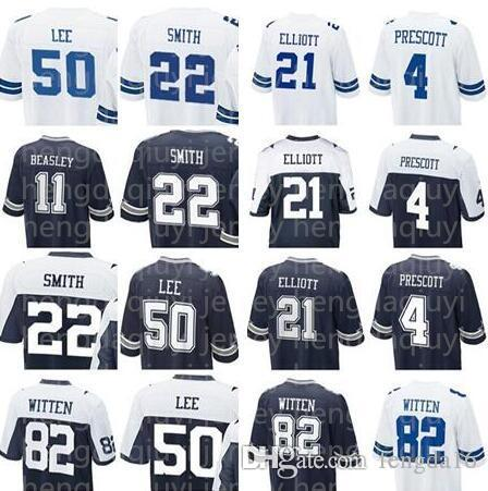 bd6dc18c630 ... good dallas 4 dak prescott 21 ezekiel elliott cowboys jersey 82 jason  witte 22 emmitt smith