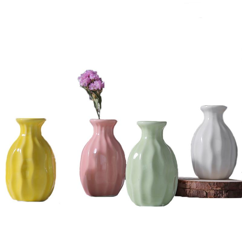 Ceramic Vase Tower Vase For Home Decoration Photo Prop Fashion
