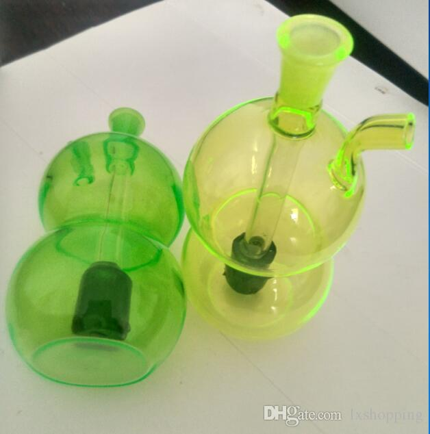 2018 El color del vidrio de agua Snuff Bottle Gourd, Venta al por mayor Accesorios de Bongs de vidrio, Glass Water Pipe Smoking, Envío gratis ytut4220