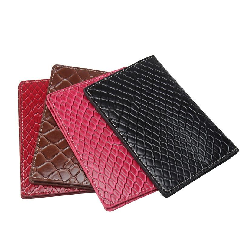 2b583b36fc 2018 Python pattern passport cover for women luxury brand new ID card  holder for traveling high quality PU leather passport case