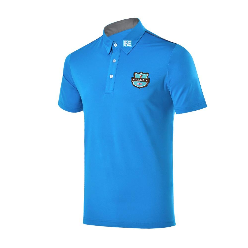 2fdd0825 2019 PLAYEAGLE Design Sportswear Mens Summer Breathable Quick Dry Fit Golf  Polo Shirt Short Sleeve T Shirts Golf Sports Apparel From Onecherry, ...