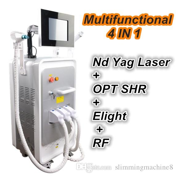 IPL retrait vasculaire machine nd yag épilation laser machine dispositif de solvant de tatouage Elight rajeunissement de la peau