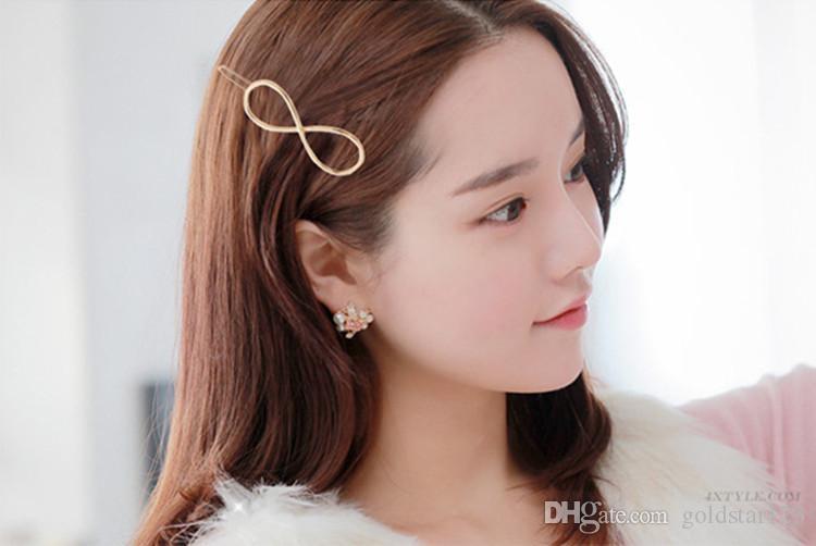 Promoción de moda Vintage círculo labio luna triángulo pin de pelo Clip horquilla Pretty para mujer niñas Metal joyería accesorios