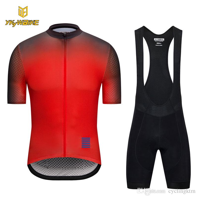 YKYWBIKE Cycling Jersey Set Summer MTB Bike Clothes Men High Quality ... ce4599ee3